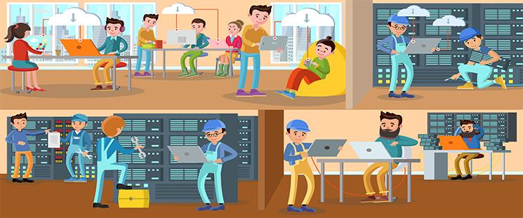 انتخاب بهترین پیمانکار خدمات شبکه